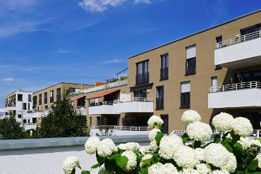 Wohnquartier in München-Ramersdorf-Perlach, WEG, 9 Treppenhäuser, 93 WE, 93 TG-KFZ-Stellplätze