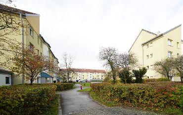 Wohnquartier in Unterschleißheim-Lohhof, Ruperti Höfe, 30 Treppenhäuser, 253 Wohneinheiten, 257 TG-KFZ-Stellplätze
