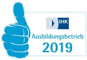 Ausbildungsbetrieb 2019, anerkannt durch die IHK München Oberbayern